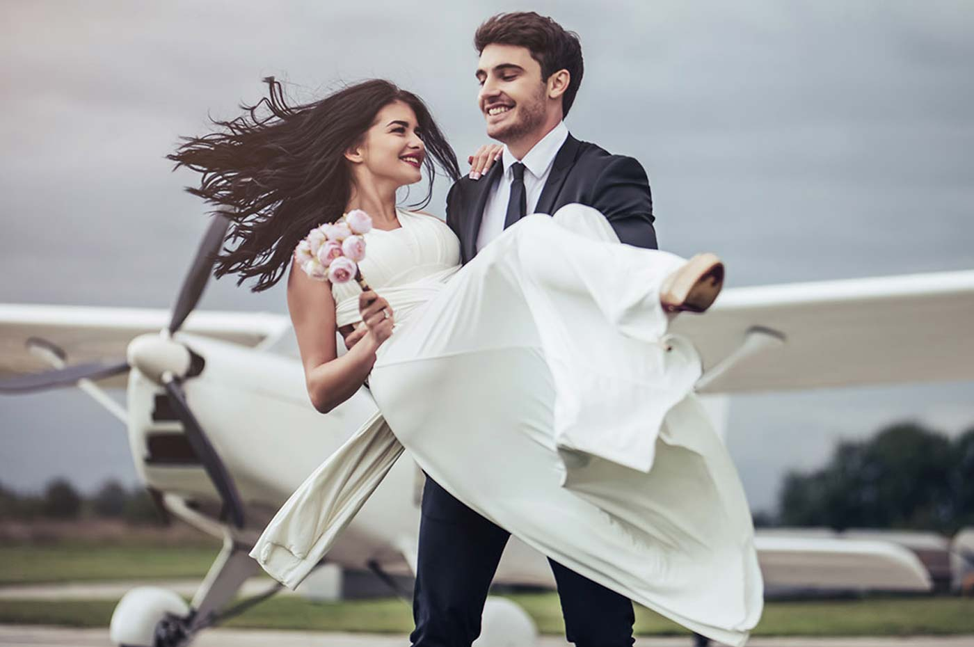 How to Travel on a Plane with a Wedding Dress